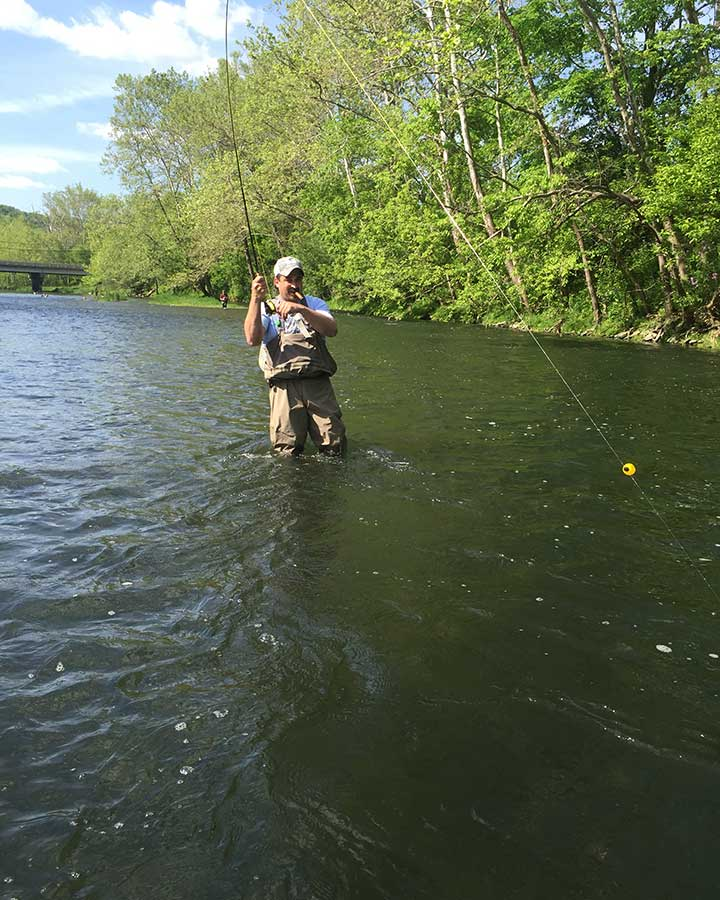 Indiana fly fishing guides flyfishing float trips on for Trout fishing indiana